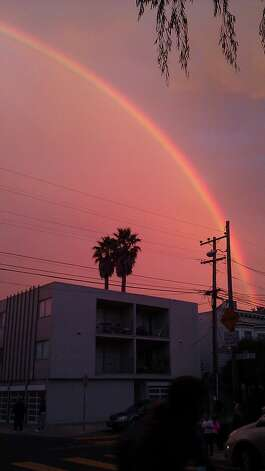 Rainbow over San Francisco. Photo: Courtesy Kendra Lynn Luzitano