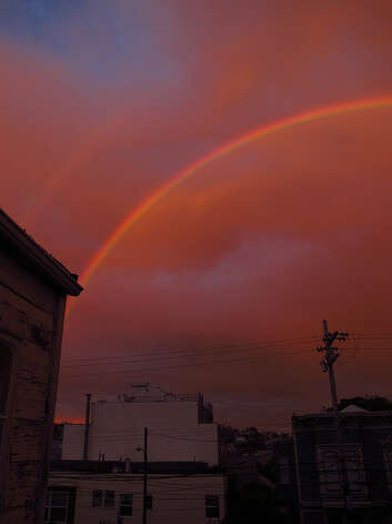 Rainbow over San Francisco. Photo: Courtesy John Arns