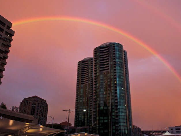 Rainbow over SOMA in San Francisco. Courtesy Jason Bull Photo: Jason Bull