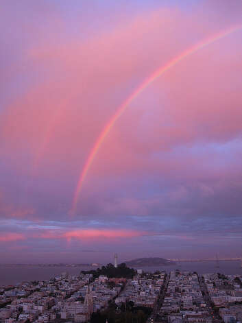 Rainbow over Telegraph Hill in San Francisco. Photo: Courtesy John Riiley