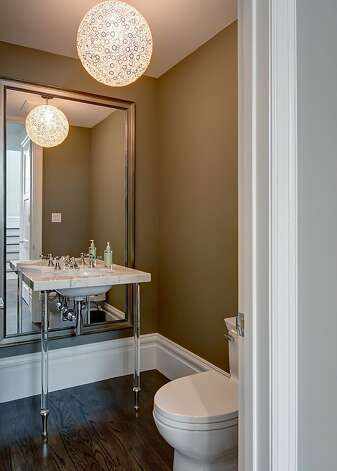 The main level features a powder room. Photo: Dan Friedman