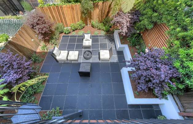 A view of the backyard garden from above. Photo: Dan Friedman