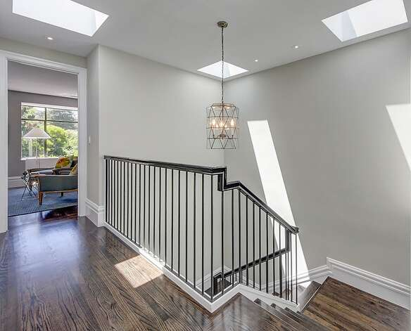 Four skylights top the home's staircase. Photo: Dan Friedman
