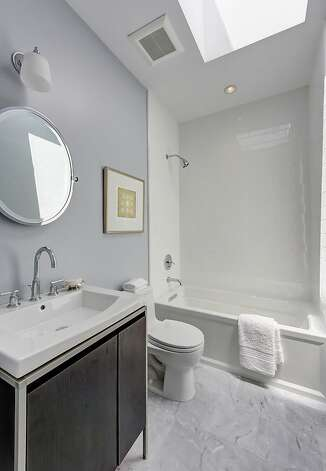 A bathroom boasts a skylight. Photo: Dan Friedman