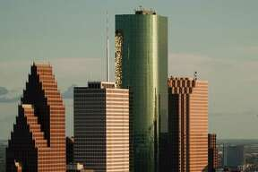 Aerial view of the downtown Houston skyline Sunday, Aug. 16, 2009, in ( Smiley N. Pool / Chronicle )