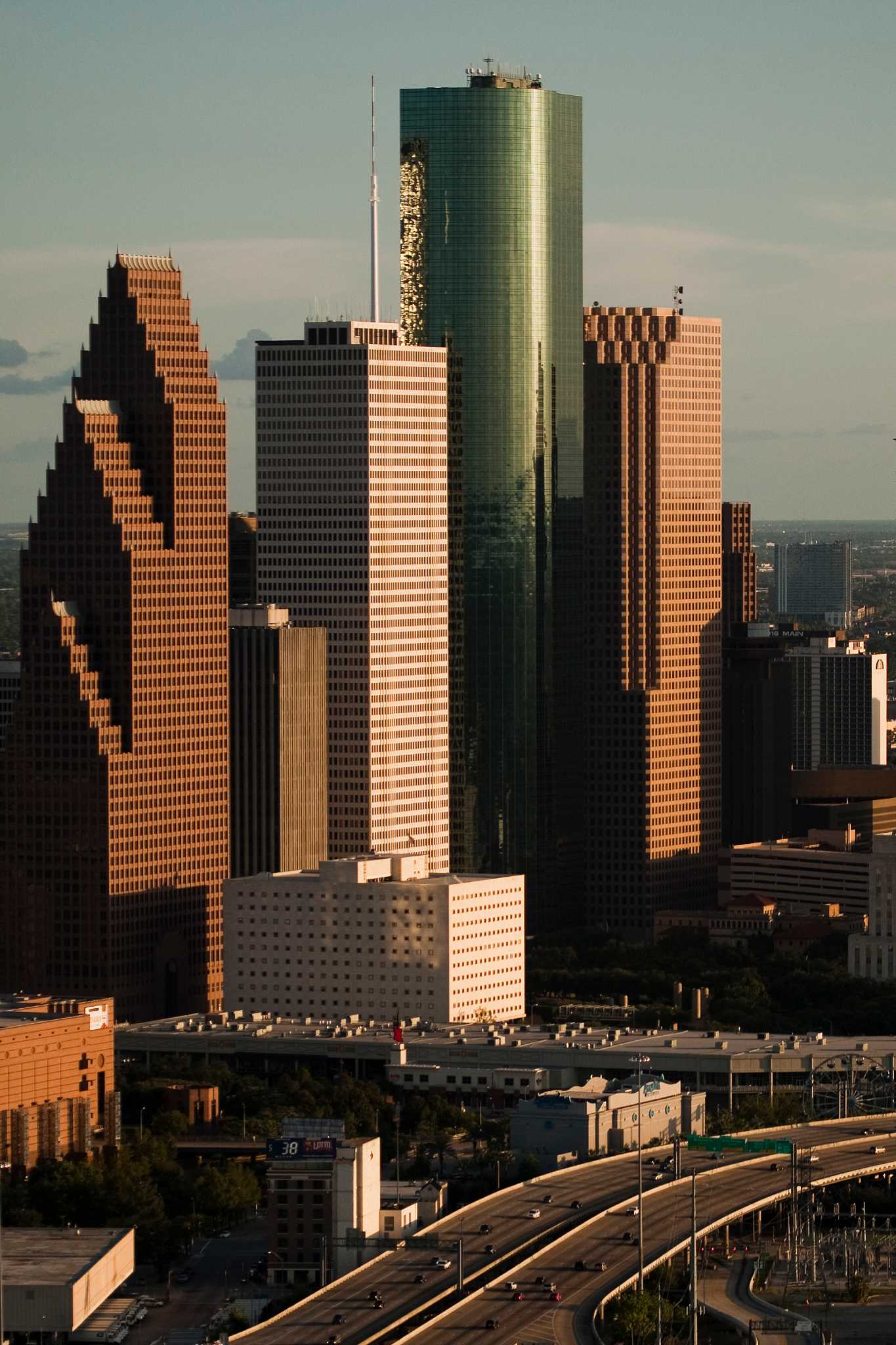 High-rises under construction in the Houston area