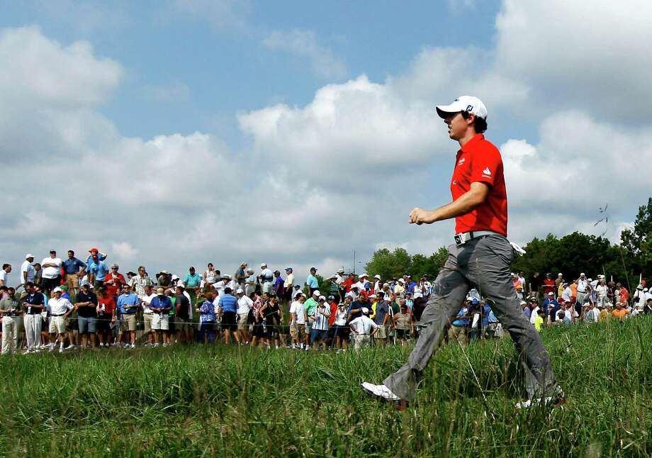 Rory McIlroy of Northern Ireland, heads out on the 10th fairway during the first round of the BMW Championship PGA golf tournament at Crooked Stick Golf Club in Carmel, Ind., Thursday, Sept. 6, 2012. (AP Photo/Charles Rex Arbogast) Photo: Charles Rex Arbogast, Associated Press / AP