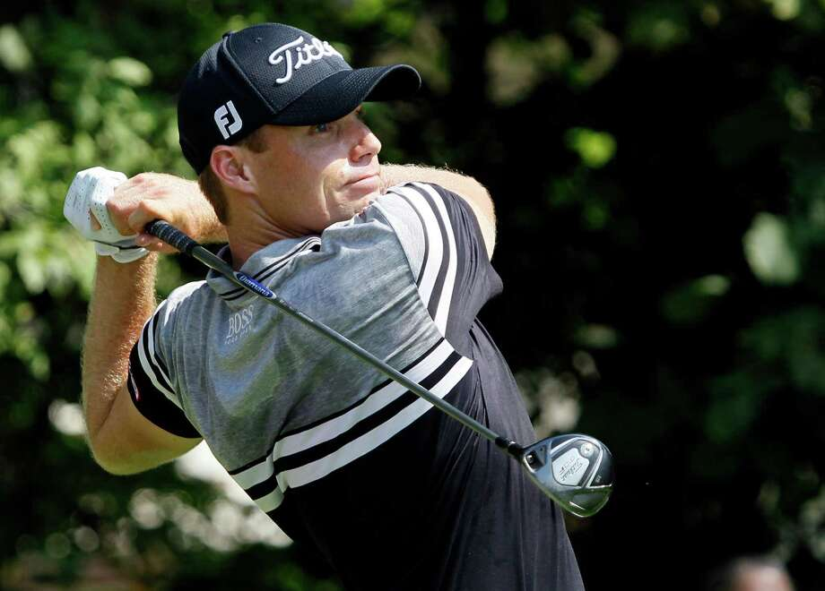 Nick Watney tees off on the 12th hole during the first round of the BMW Championship PGA golf tournament at Crooked Stick Golf Club in Carmel, Ind., Thursday, Sept. 6, 2012. (AP Photo/Charles Rex Arbogast) Photo: Charles Rex Arbogast, Associated Press / AP