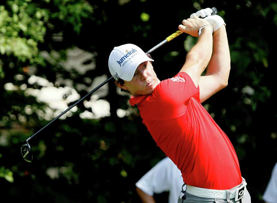 Rory McIlroy of Northern Ireland, tees off on the 12th hole during the first round of the BMW Championship PGA golf tournament at Crooked Stick Golf Club in Carmel, Ind., Thursday, Sept. 6, 2012. (AP Photo/Charles Rex Arbogast) Photo: Charles Rex Arbogast, Associated Press / AP