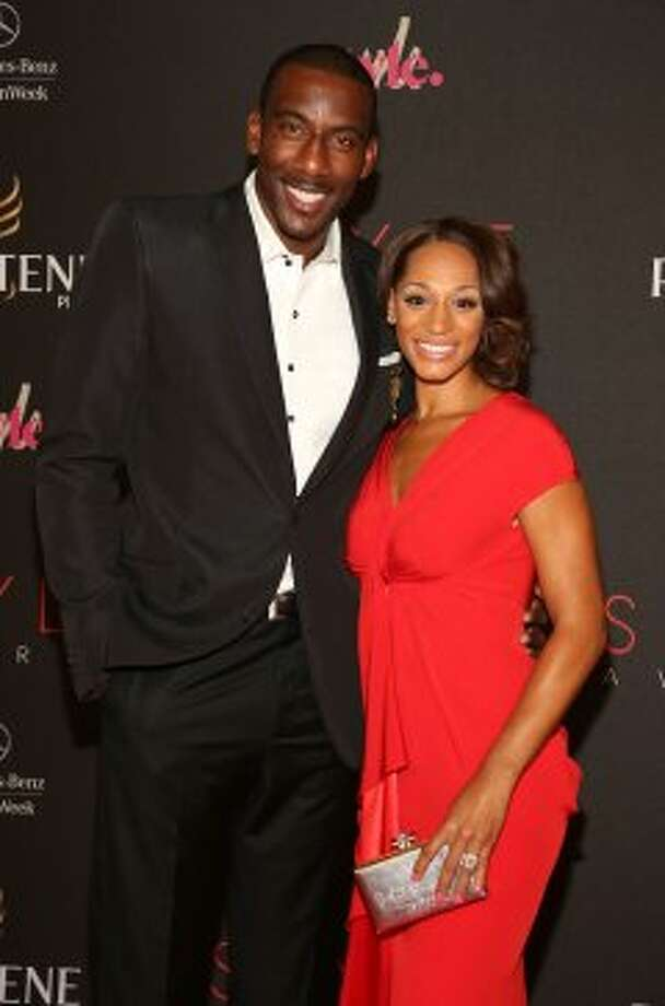 Professional basketball player Amar'e Stoudemire and Alexis Welch attend the 9th annual Style Awards during Mercedes-Benz Fashion Week at The Stage at Lincoln Center on September 5, 2012 in New York City.  (Astrid Stawiarz / Getty Images for Mercedes-Benz Fashion Week)