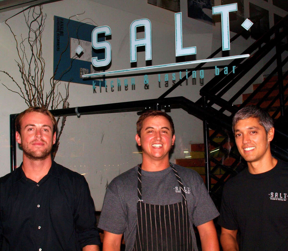 Left to right its Julian, Quinten, and Danny from Salt Kitchen and Tasting Bar