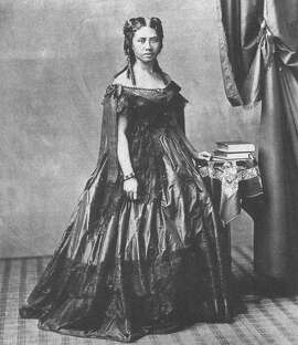 Lydia Kamakaeha, later known as Queen Lili'uokalani,  in a photo from 1865 or earlier. She was educated by missionaries at a school for children of Hawaiian chiefs.
