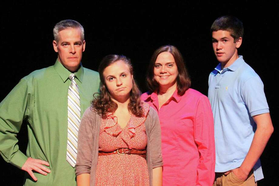 "The 2010 Pulitzer Prize-winning musical ""Next to Normal"" is being produced by the Warner Stage Company at the Warner Theatre in Torrington from Sept. 14 to 23. The dysfunctional suburban family in the Broadway hit is being played by (left to right) Tom Denihan, Theresa Elizabeth, Dawn Brown and Thomas Doelger. Photo: Contributed Photo"