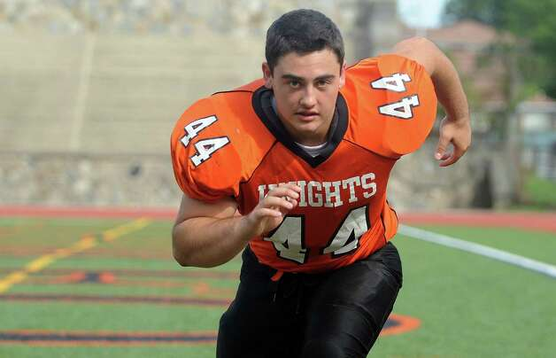 Stamford High School's Frankie Colandro poses for a photo on Thursday, September 6, 2012. Photo: Lindsay Niegelberg / Stamford Advocate