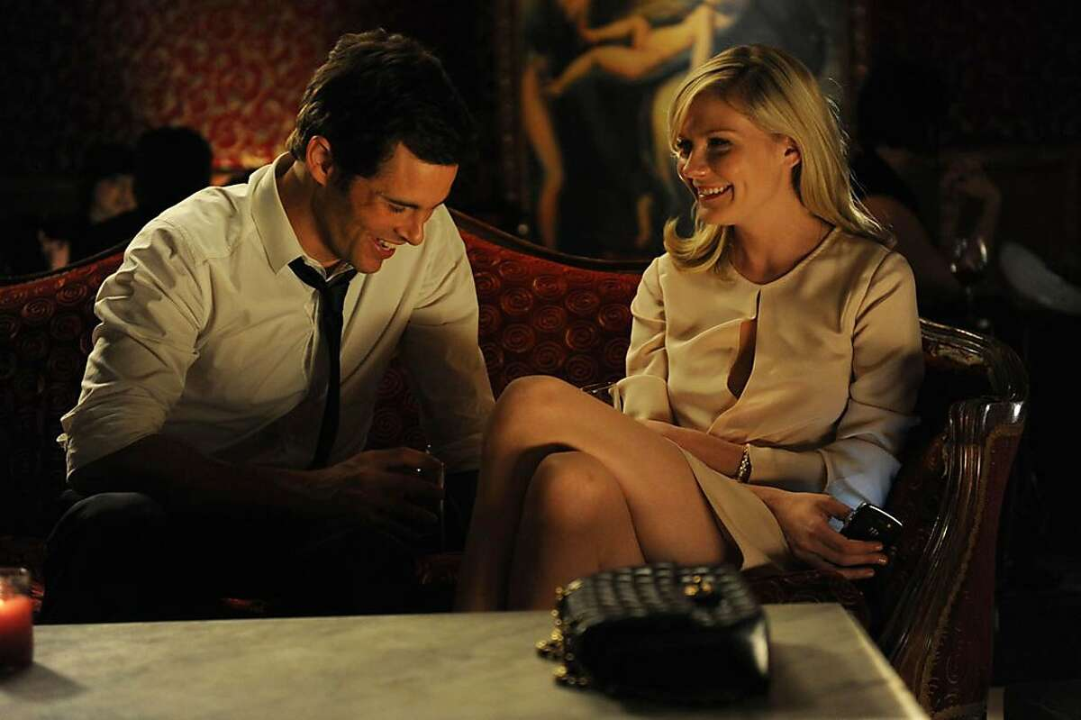 This image released by Radius/The Weinstein Company shows James Marsden, left, and Kirsten Dunst in a scene from
