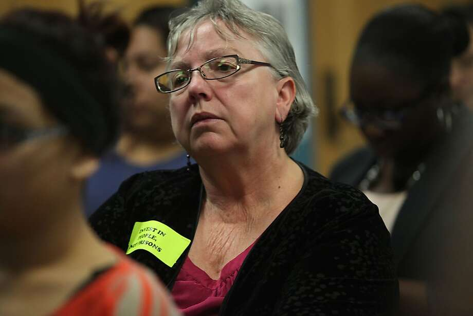 Richmond Mayor Gayle McLaughlin listens to the proposal. Photo: Liz Hafalia, The Chronicle