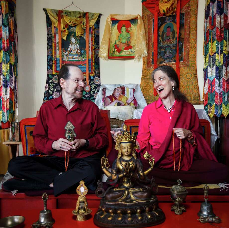 Dawn Mountain founders Harvey Aronson and Anne Klein say a sense of joy and hope are central to Buddhism. Photo: Michael Paulsen / © 2012 Houston Chronicle