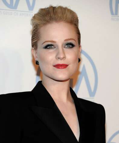 "Evan Rachel Wood needs a reminder to clean out her pockets when doing laundry. She tweeted:  ""Anyone know how to get lipstick stains out of a dryer? I may or may not have accidentally dried my clothes with some lip stain."" Photo: Dan Steinberg / R-STEINBERG"