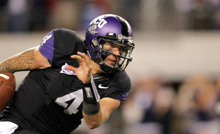 Junior QB Casey Pachall and the Horned Frogs start their season Saturday riding an eight-game winning streak — the longest active run in FBS. Photo: Sarah Glenn, Getty Images / 2011 Getty Images