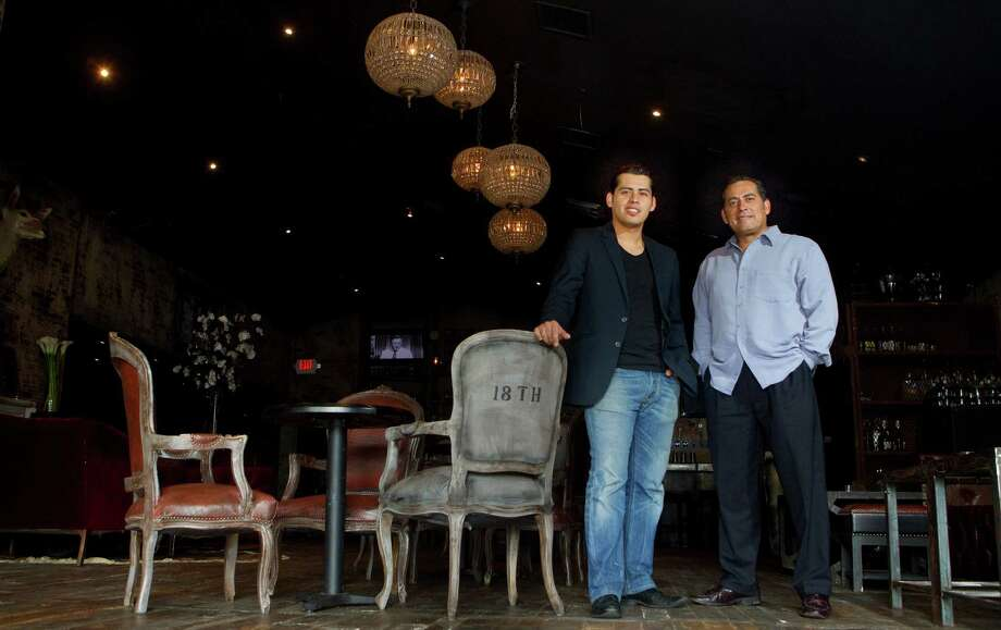 Erick and Frank Ramirez stand at The Eighteenth, a bar named for the 18th amendment, Thursday, July 12, 2012, in Houston. (Cody Duty / Houston Chronicle) Photo: Cody Duty / © 2011 Houston Chronicle