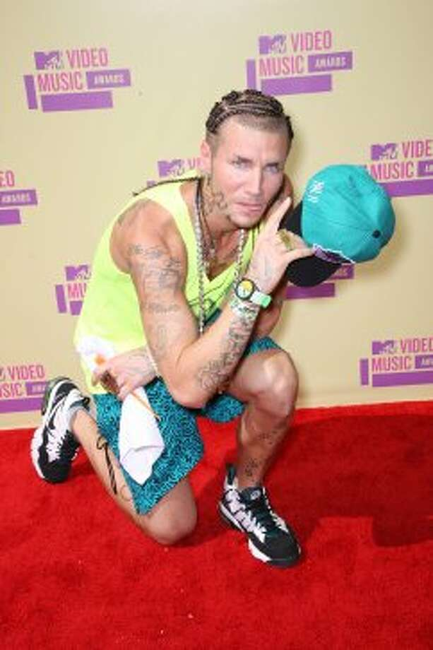 Riff Raff mistakenly thought he was attending a beach volleyball game. (Frederick M. Brown / Getty Images)