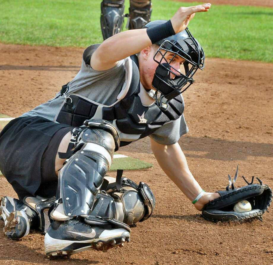 ValleyCats catcher Tyler Heineman during fielding practice at the Joe in Troy Thursday Sept. 6, 2012,in preparation for the New York Penn League playoffs, which begin Friday. (John Carl D'Annibale / Times Union) Photo: John Carl D'Annibale / 00019162A