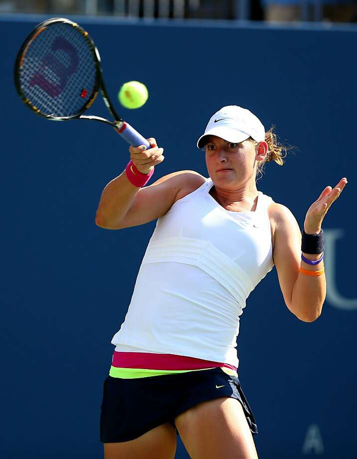 As a wild card, Mallory Burdette advanced to the third round of the U.S. Open. Photo: Al Bello, Getty Images