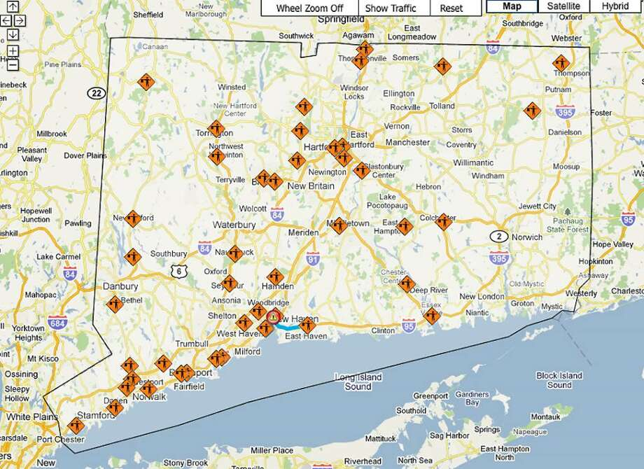 Connecticut's drivers can now route their commutes and other trips by checking out a new online map showing the latest road crashes, construction alerts, and other events holding back traffic on state highways.  The interactive map can be found at this location:  http://www.dotdata.ct.gov/iti/master_iti.html Photo: State Of Connecticut / State of Connecticut