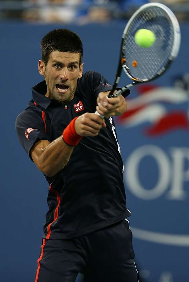 Novak Djokovic beat Juan Martin del Potro in straight sets. Djokovic next faces David Ferrer. Photo: Clive Brunskill, Getty Images