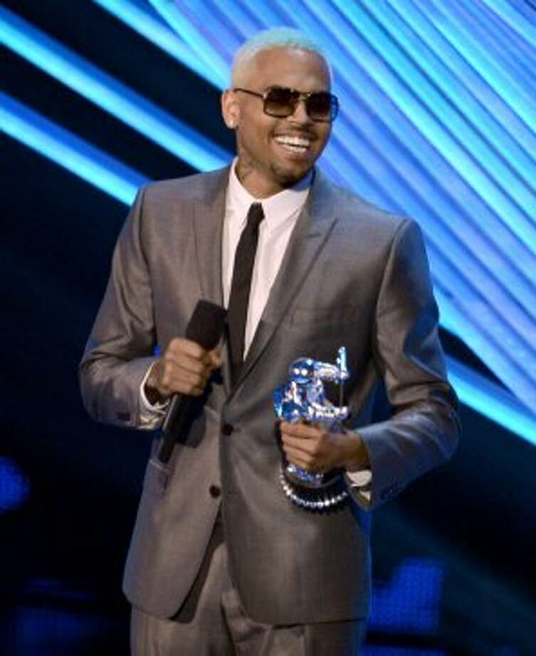 Singer Chris Brown accepts the award for Best Male Video onstage during the 2012 MTV Video Music Awards at Staples Center on September 6, 2012 in Los Angeles, California.   (Kevin Winter / Getty Images)