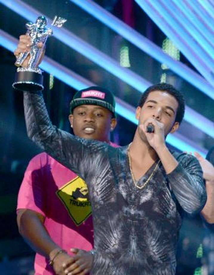 Drake accepts the award for Best Hip-Hop Video onstage during the 2012 MTV Video Music Awards at Staples Center on September 6, 2012 in Los Angeles, California.   (Kevin Winter / Getty Images)