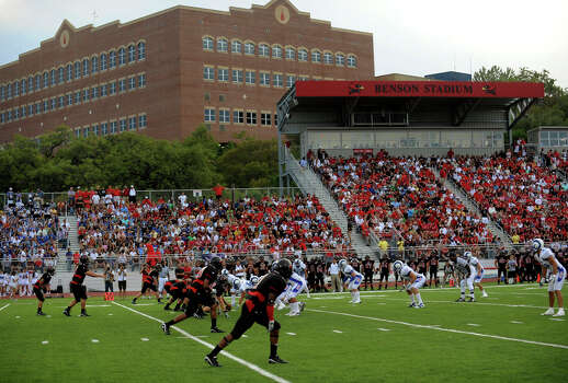 Incarnate Word's stadium is named for local philanthropists Gayle and Tom Benson. The football team is a recent addition to the school's athletic program. The school awarded its first athletic scholarship in 1986 to John Valdivia, a baseball pitcher from Highlands High School. Photo: Billy Calzada, San Antonio Express-News / gcalzada@express-news.net