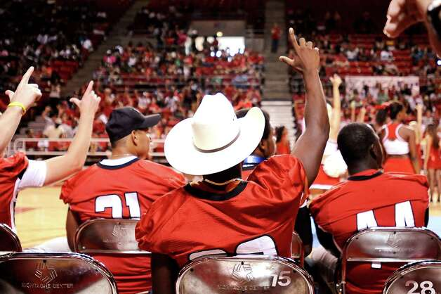 Lamar University pep rally at the Montagne Center on Thursday, September 6, 2012. Photo taken: Randy Edwards/The Enterprise Photo: Randy Edwards