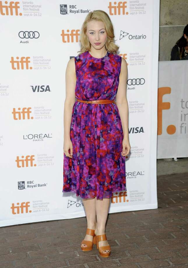 "Actress Sarah Gadon attends Jason Reitman's Live Read of ""American Beauty"" during the Toronto International Film Festival on Thursday Sept. 6, 2012 in Toronto. (Photo by Evan Agostini/Invision/AP) Photo: Evan Agostini, EVAN AGOSTINI /INVISION/AP / Invision"