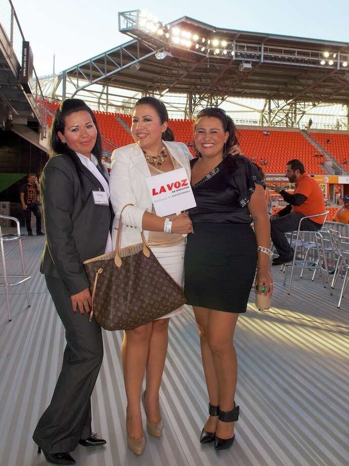L-R: Katya Ortiz, Rosy Montelongo, Shirley Garcia Photo: Jay Dryden
