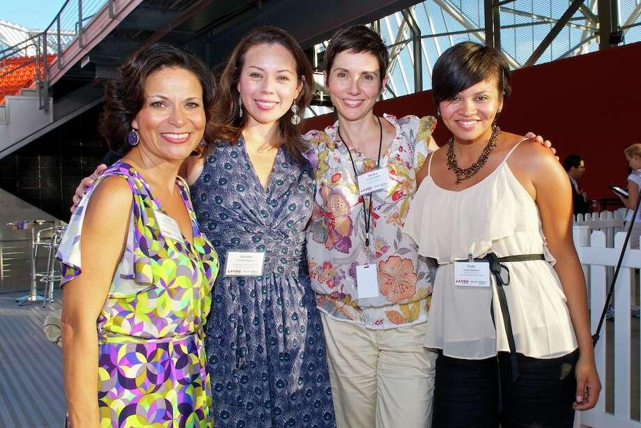 L-R: Claudia Deschamps, Lourdes Remond, Aurora Losada (La Voz editor), Frida Villalobos Photo: Jay Dryden
