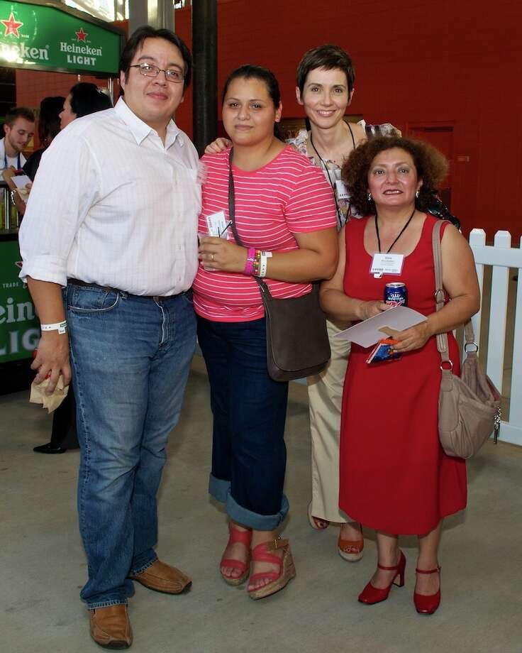 L-R: Juan Alanis, Anjelica Cazares, Aurora Losada, Silvia Struthers Photo: Jay Dryden