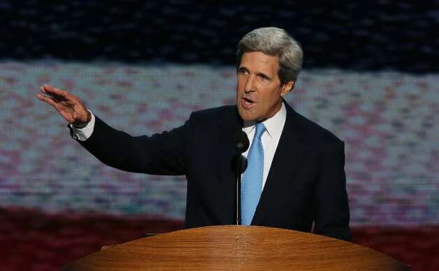 CHARLOTTE, NC - SEPTEMBER 06:  U.S. Sen. John Kerry (D-MA) speaks on stage during the final day of the Democratic National Convention at Time Warner Cable Arena on September 6, 2012 in Charlotte, North Carolina. The DNC, which concludes today, nominated U.S. President Barack Obama as the Democratic presidential candidate.  (Photo by Alex Wong/Getty Images) (Getty Images)