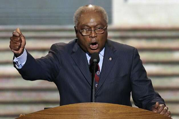 Rep. Jim Clyburn of South Carolina addresses the Democratic National Convention in Charlotte, N.C., on Thursday, Sept. 6, 2012. (AP Photo/J. Scott Applewhite) (Associated Press)