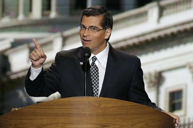 Rep. Xavier Becerra of California addresses the Democratic National Convention in Charlotte, N.C., on Thursday, Sept. 6, 2012. (AP Photo/J. Scott Applewhite) (Associated Press)