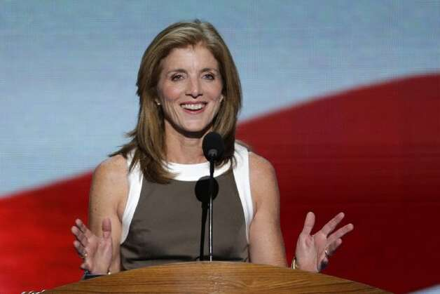 Caroline Kennedy addresses the Democratic National Convention in Charlotte, N.C., on Thursday, Sept. 6, 2012. (AP Photo/J. Scott Applewhite) (Associated Press)