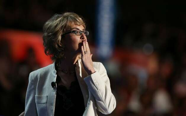 CHARLOTTE, NC - SEPTEMBER 06:  Former U.S. Rep. Gabrielle Giffords (D-NV) walks on stage during the final day of the Democratic National Convention at Time Warner Cable Arena on September 6, 2012 in Charlotte, North Carolina. The DNC, which concludes today, nominated U.S. President Barack Obama as the Democratic presidential candidate.  (Photo by Chip Somodevilla/Getty Images) (Getty Images)