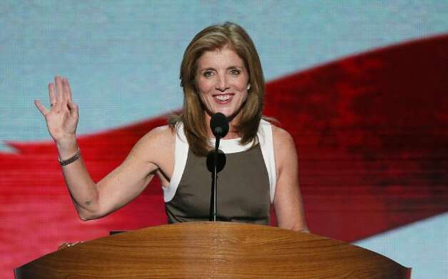 CHARLOTTE, NC - SEPTEMBER 06:  Caroline Kennedy speaks on stage during the final day of the Democratic National Convention at Time Warner Cable Arena on September 6, 2012 in Charlotte, North Carolina. The DNC, which concludes today, nominated U.S. President Barack Obama as the Democratic presidential candidate.  (Photo by Alex Wong/Getty Images) (Getty Images)