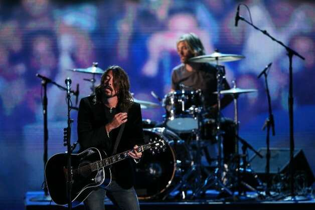 CHARLOTTE, NC - SEPTEMBER 06:  Musican Dave Grohl of the Foo Fighters performs during the final day of the Democratic National Convention at Time Warner Cable Arena on September 6, 2012 in Charlotte, North Carolina. The DNC, which concludes today, nominated U.S. President Barack Obama as the Democratic presidential candidate.  (Photo by Alex Wong/Getty Images) (Getty Images)