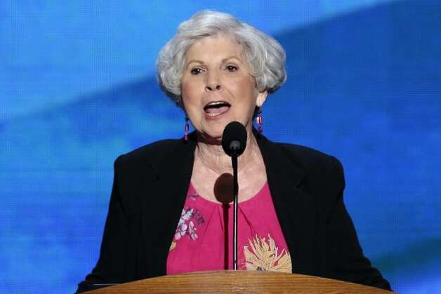 Carol Berman addresses the Democratic National Convention in Charlotte, N.C., on Thursday, Sept. 6, 2012. (AP Photo/J. Scott Applewhite) (J. Scott Applewhite / Associated Press)