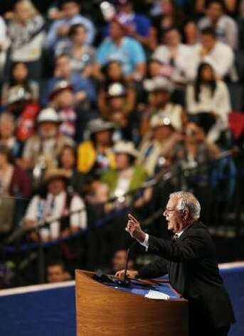 CHARLOTTE, NC - SEPTEMBER 06:  U.S. Rep. Barney Frank (D-MA) speaks on stage during the final day of the Democratic National Convention at Time Warner Cable Arena on September 6, 2012 in Charlotte, North Carolina. The DNC, which concludes today, nominated U.S. President Barack Obama as the Democratic presidential candidate.   (Streeter Lecka / Getty Images)