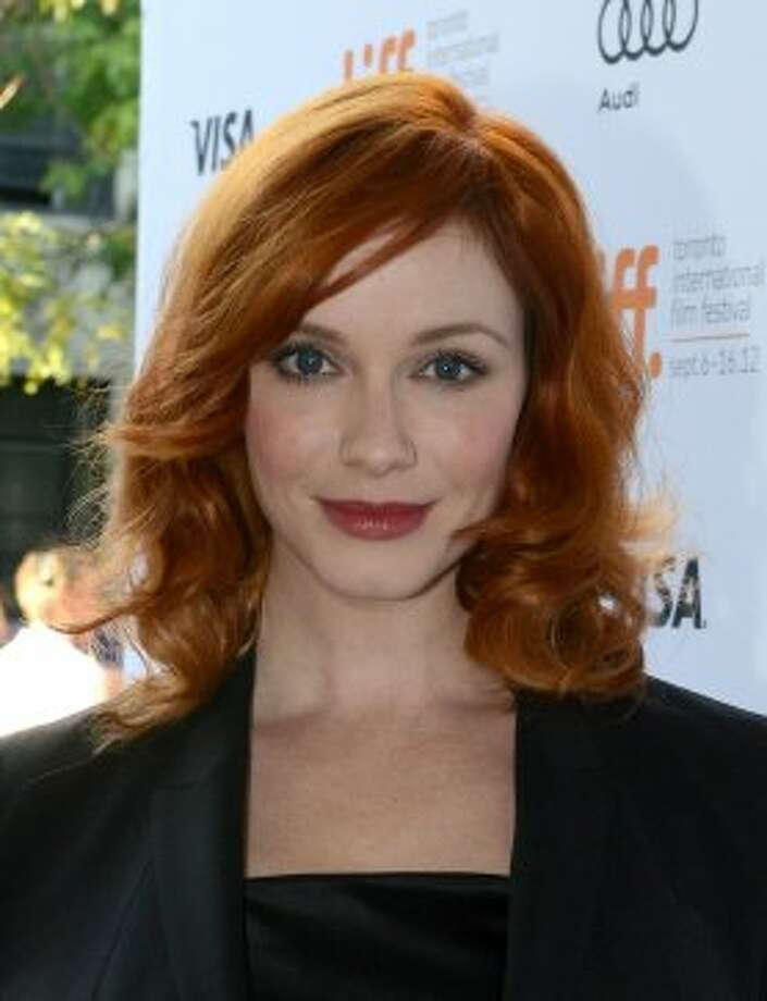 "Christina Hendricks attends a live table reading of Alan Ball's ""American Beauty"" screenplay during the 2012 Toronto International Film Festival.  (Peter Bregg / Getty Images)"