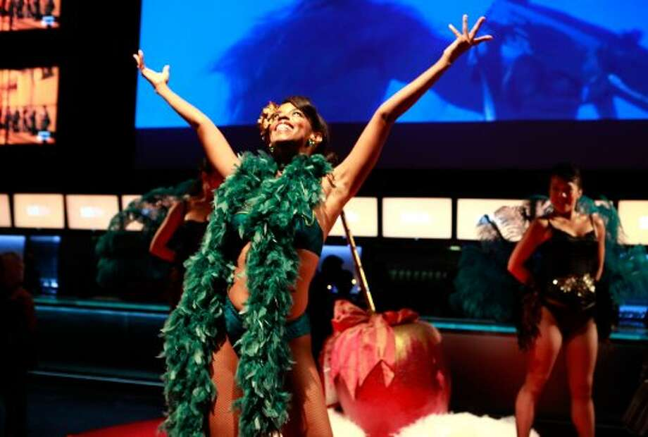 Burlesque dancers performs at the 2012 Toronto International Film Festival.  (Todd Oren / Getty Images)