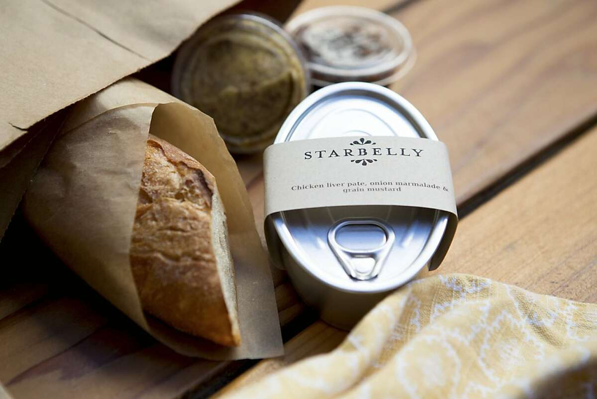 New chicken liver pate packages from Starbelly restaurant in San Francisco. August 2012