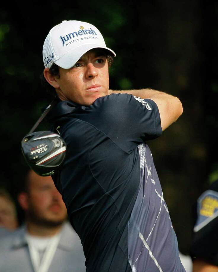 Rory McIlroy of Northern Ireland tees off on the second hole during the second round of the BMW Championship PGA golf tournament at Crooked Stick Golf Club in Carmel, Ind., Friday, Sept. 7, 2012. (AP Photo/Charles Rex Arbogast) Photo: Charles Rex Arbogast, Associated Press / AP